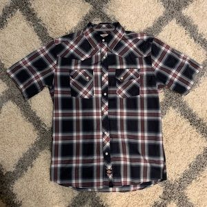 Dickies Snap Front Western Style SS shirt. Men's M